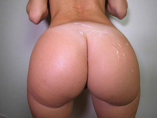 Pawg covered with cum morning quickie...