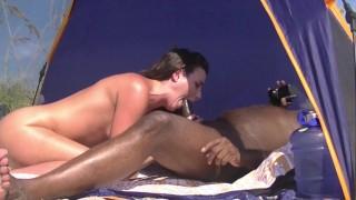 Caribbean Nude Beach Interracial Sex #1 Voyeur Asks If He Can Watch Her And Jerk Off!