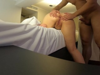 Amateur couple and creampie...