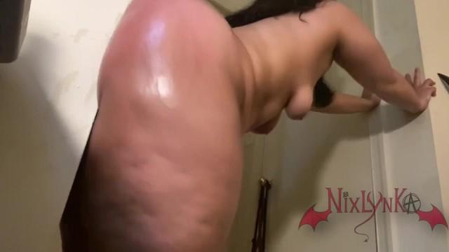 Latina Shaking Ass Dildo