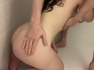 Shower super wet fingering part 1...