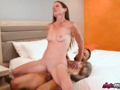 Cute MILF Sofie Marie Blows Dick Before Interracial Banging