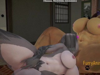 Furry mouse jirafe fingering and cunilingus with squirt...