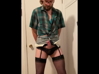 Sissy cowgurl jerking off