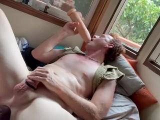 Ginger undies anal big cock dildo...