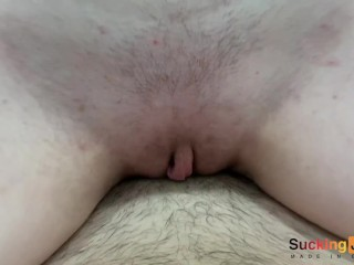 She Loves Big Cock in her Tight Pussy and Cum on Belly