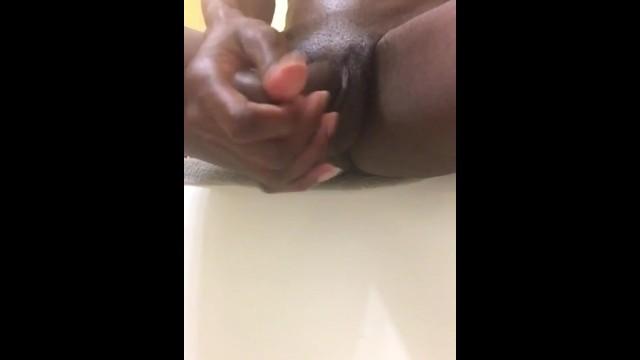 Babe;Big Dick;Cumshot;Ebony;Handjob;Masturbation;POV;Transgender;Verified Amateurs;Solo Trans;Vertical Video transgender, cum-shot