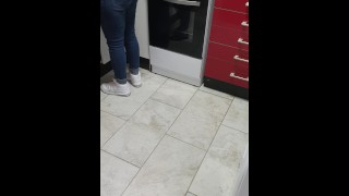 Step son Ripped step mom Jeans to Fuck her Pussy and Spank her Ass