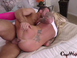 6min Trailer School Uniform Hot Blonde Babe fucks Chad White and gets a Monster Facial