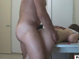 Schoolgirl seduced, sucked cock and fucked