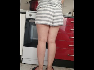 Step son with 11 inch of Cock Fuck  Step mom in the Kitchen (screaming orgasm)