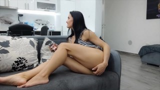 Milf Lilly without panties with an electrician in the house