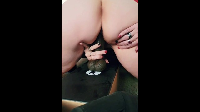 Riding A Big Black Dildo and Spreading My Ass So you Can DP Me 6