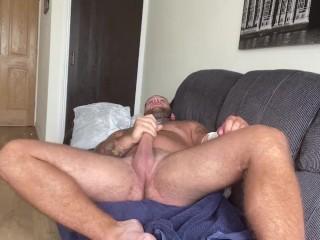 Straight lad cumming huge load towel...