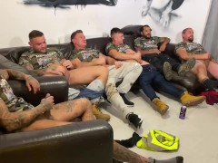 Straight lads circle jerk wank party. Drinking, wanking & watching porn. Real lads