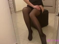 Сексуальные ножки в ч...