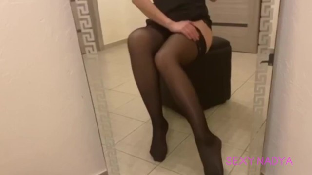 Sexy legs in stockings