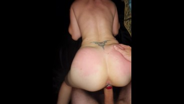 POV Phat Ass PAWG SQUIRTS on My COCK with Ass Plug .pov squirting pawg milf