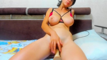 Wet, hot and full of passion dildo ride!