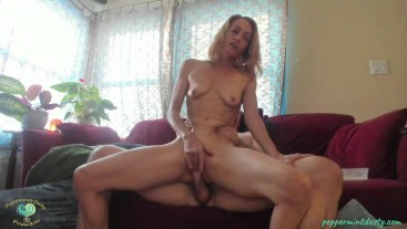 PeppermintDusty: Can't Stop Cumming and Squirting, Multiple Orgasms with Cum Cleanup