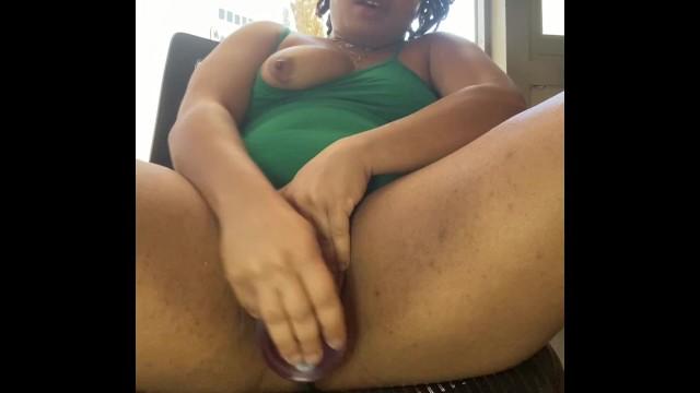 Ebony Solo Girl Masturbation