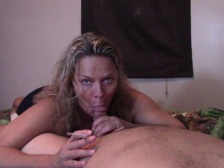 HOT SMOKING BLOWJOB VS 120S CUM IN MOUTH
