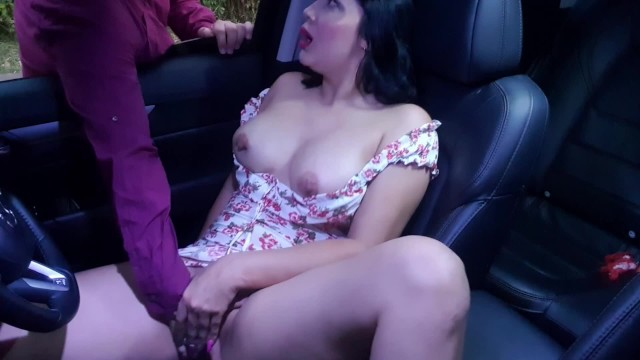 Stranger finds me touching me horny pussy in my Car and I let him help me s ...