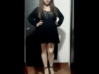 Cute crossdresser wearing dress and heels...