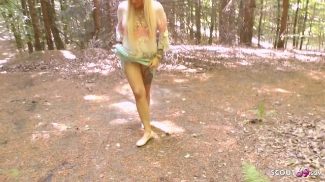 German Teens Madina Fynja and Tight Tini Peeing Outdoor 11