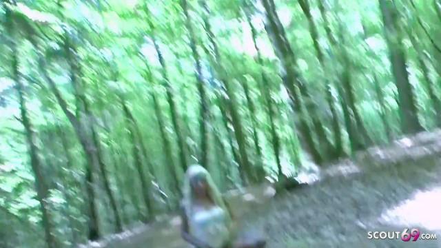 German Teens Madina Fynja and Tight Tini Peeing Outdoor 49