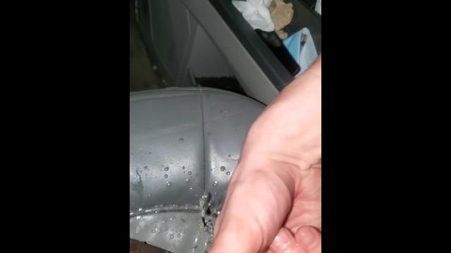 Ebony Slut INTENSE Car Squirt - WAP 4