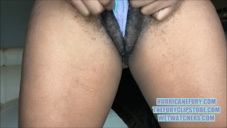 MAJOR SQUIRTING: MY HAIRY MEATY PUSSY GOT CREAMY!