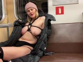 Walk the metro naked bondage...