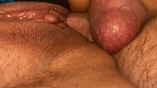 Balls deep in tight pussy
