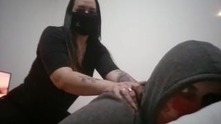 Amateur strapon sex selfie in hotel