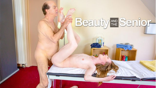 Masseuse Warms up Grandpa's Worn Out Cock