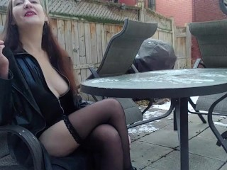 INHALE 52 Smoking Fetish & Risky Public Nudity by Gypsy Dolores
