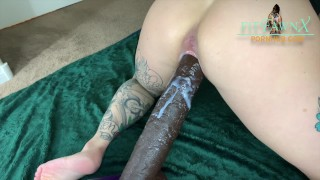 Petite Tatted Babe Fucked by Huge Horse Cock - wet creampie