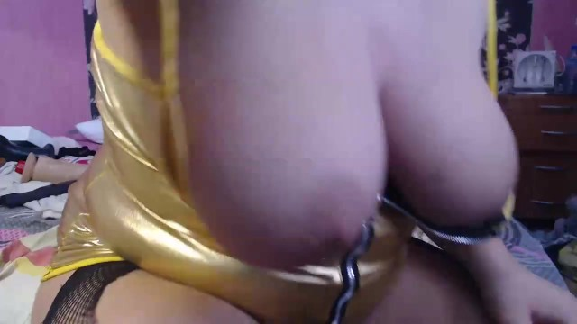 Blowjob with spit and ride huge toys 3