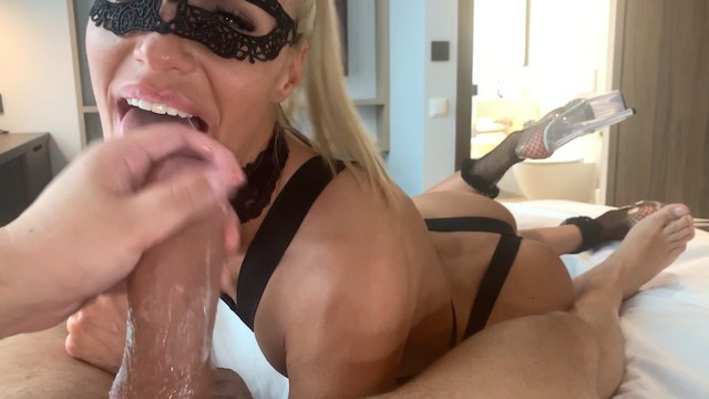 Fitness model takes a big dick in the ass between non-stop gagging and deepthroating | Saliva Bunny