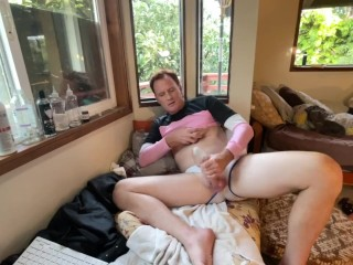 Pink sweater trans ginger anal...