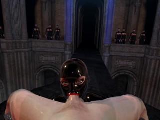 Citor3 VR SFM 3D XXX Games Bondage huge tits latex mistress sucks off twice double oral creampie