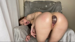 Sexy Beauty Tries Double Penetration with a Double Dildo For the First Time! AMATEUR SOLO