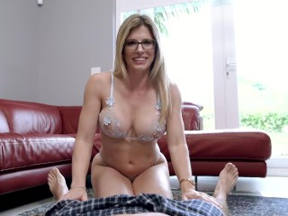 My Step Mom Grinds on My Cock and Dares Me Not to Get Hard - Cory Chase