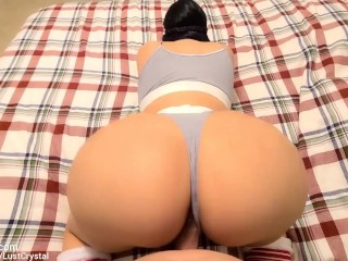Stepbros hard cock fingers horny Stepsister after seeing her WET pussy