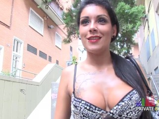 Curvy brunette is seduced and fucked for money young amature porn