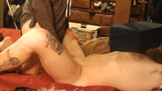 tied up ball teasing turns into the best cock riding