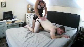 Husband Pegged Hard by MILF wife- Femdom Strapon Pegging /Hard Reverse Cowgirl Ride-FULL on ONLYFANS