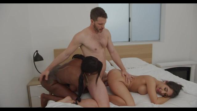 Three is a company Comedy Parody Threesome Ebony Mystique Trukait 7