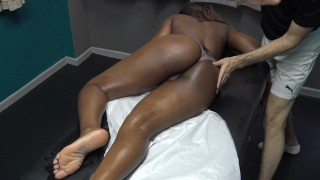 Sexy Black Wife Gets Full Body Sensual Massage by her Masseur with Big Cock